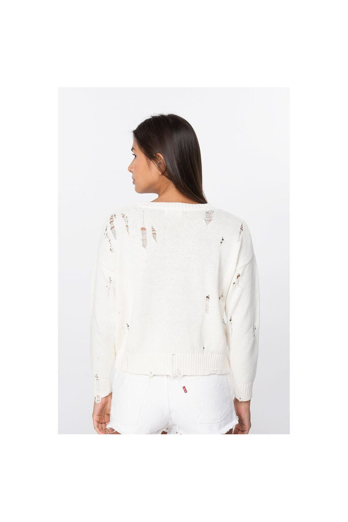 Natalya Distressed Cotton Top - Meridian