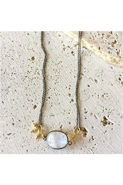 Moonstone Collar Necklace - Meridian