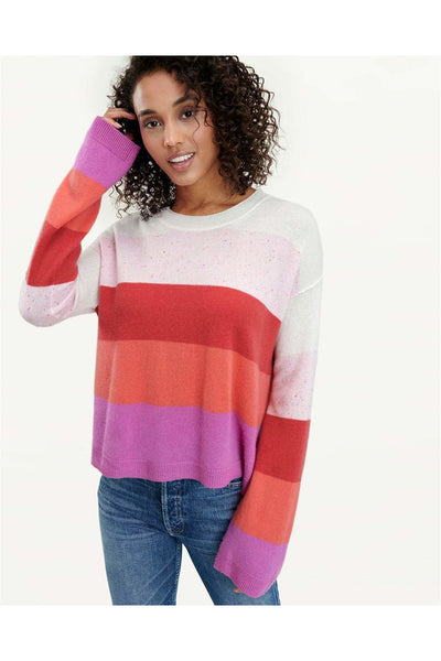 Striped Flurry Pullover - Meridian