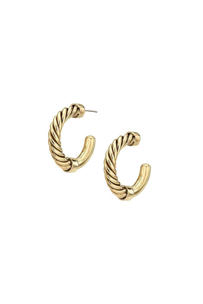 Uzi Mini Hoop Earrings - Meridian