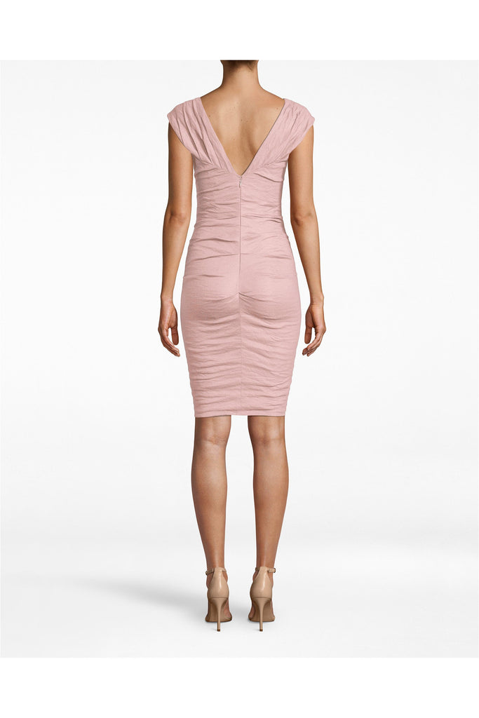Stewart Cotton Metal High V Dress - Meridian