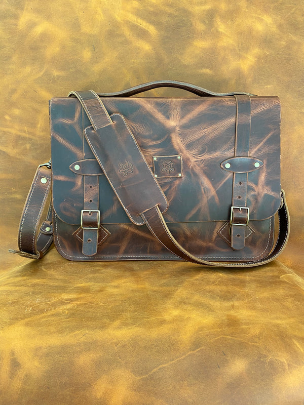 Vintage Delux Messenger Bag in Autumn