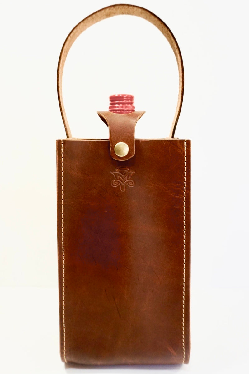 Wine Tote In Vintage Tan