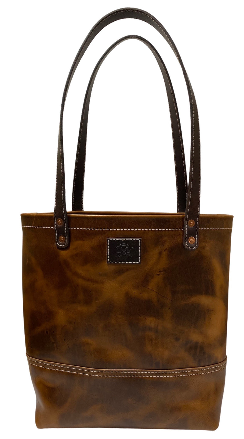 Casual Tote in Vintage Tan and Espresso