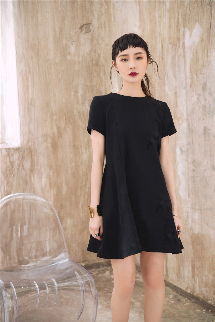 Short Sleeve Oversized Mini Dress