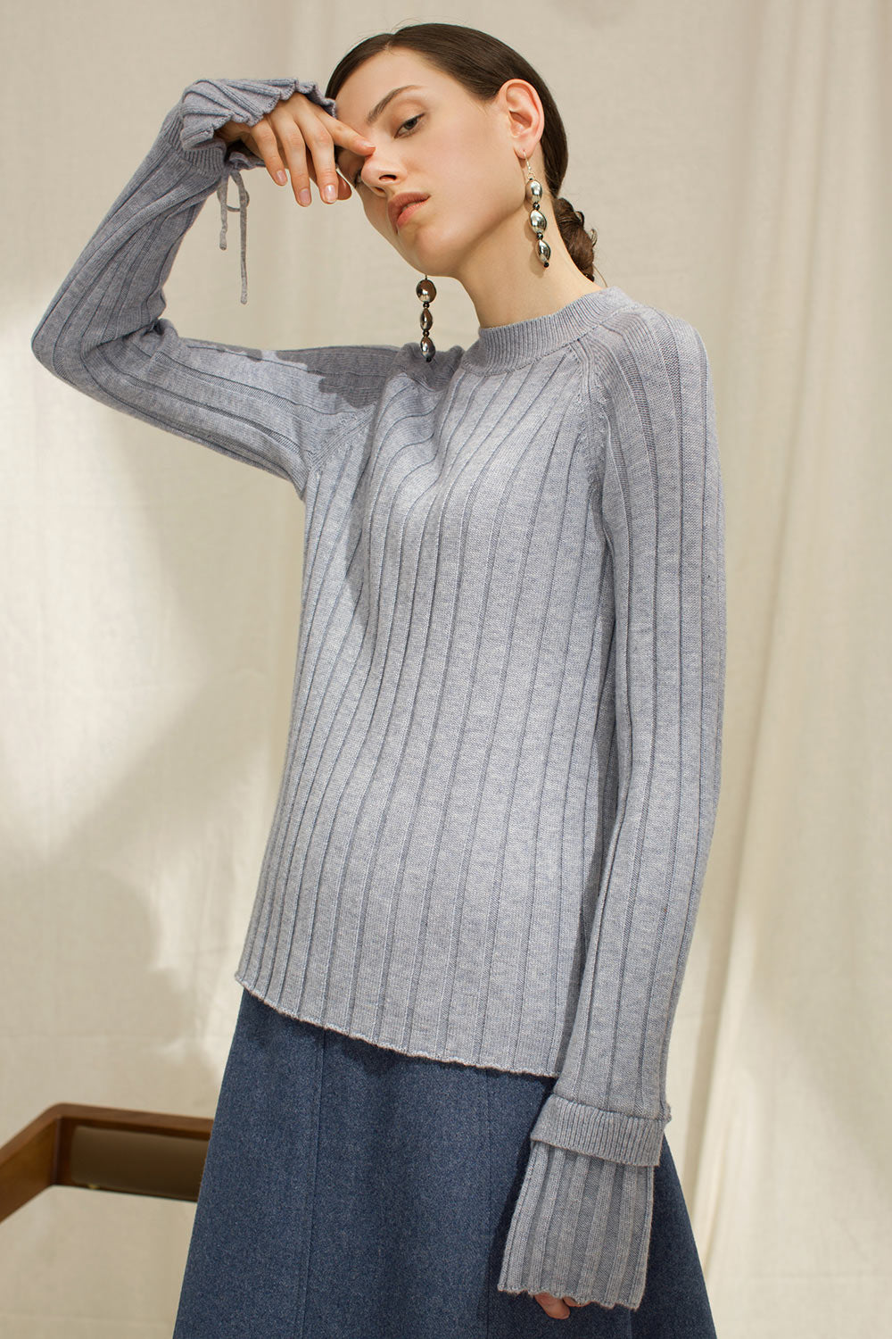 bcf33e11f08b Exaggerated Sleeves Ribbed Sweater – Genuine People