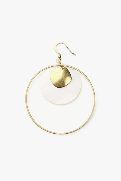 Light Minimalist Circle Earring - One Piece
