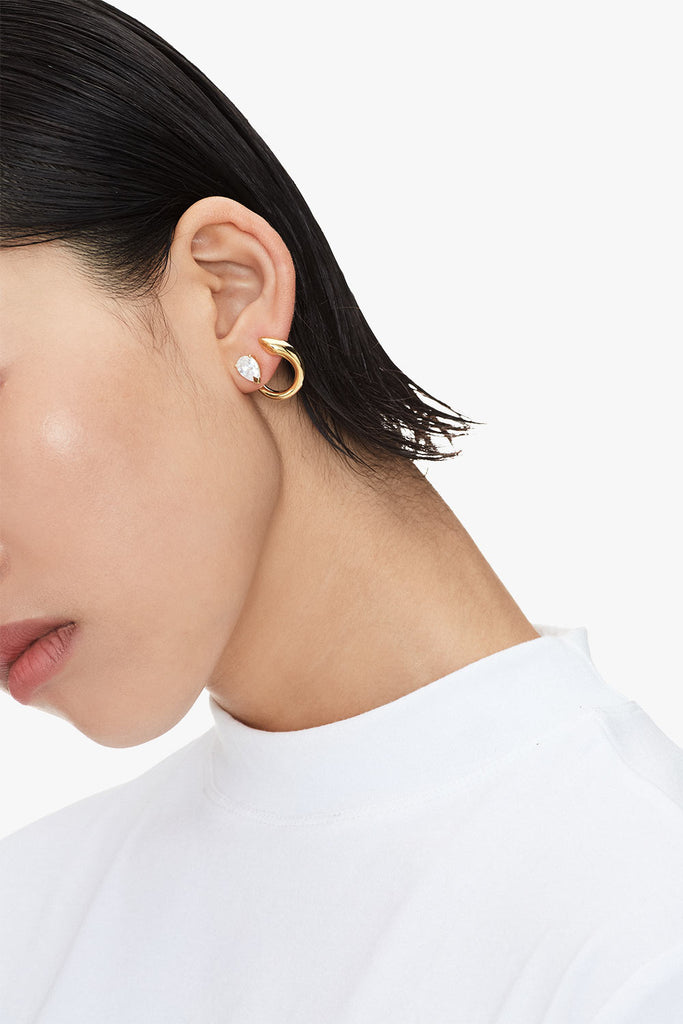 Crystal Stud Hoop Earrings