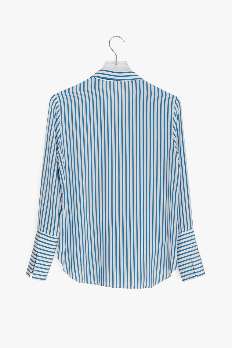 Stripe Silk Big Cuff Shirt
