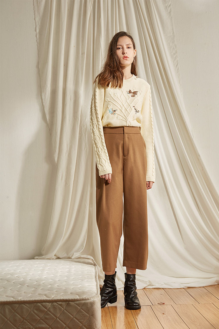 High Waist Crop Retro Pants