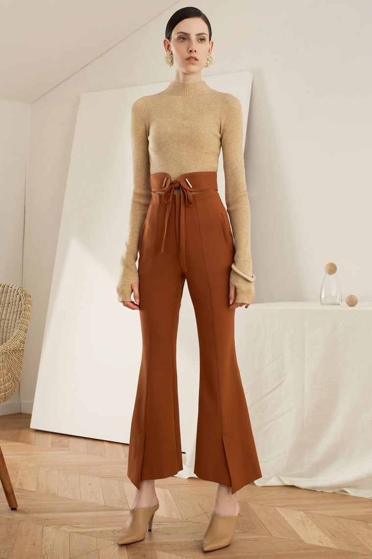 High Rise Crop Bell Pants