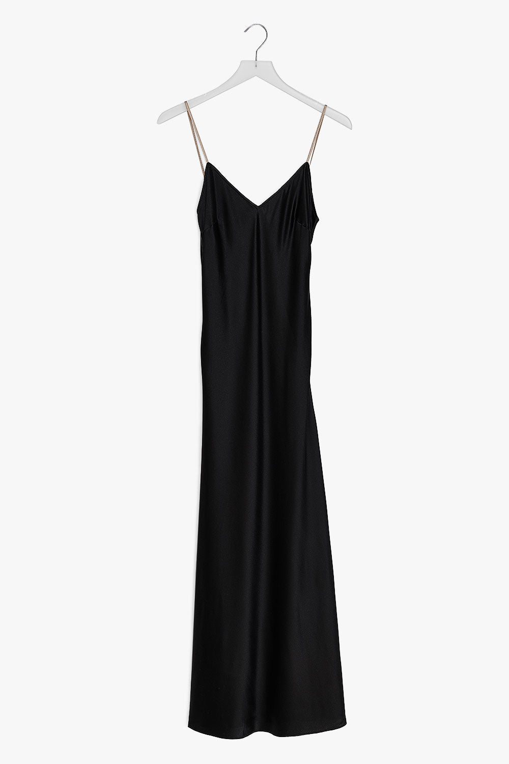 Silk V Neck Maxi Dress