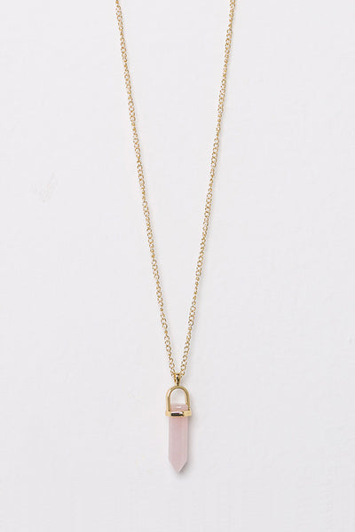 Pink Crystal Pendant Necklace