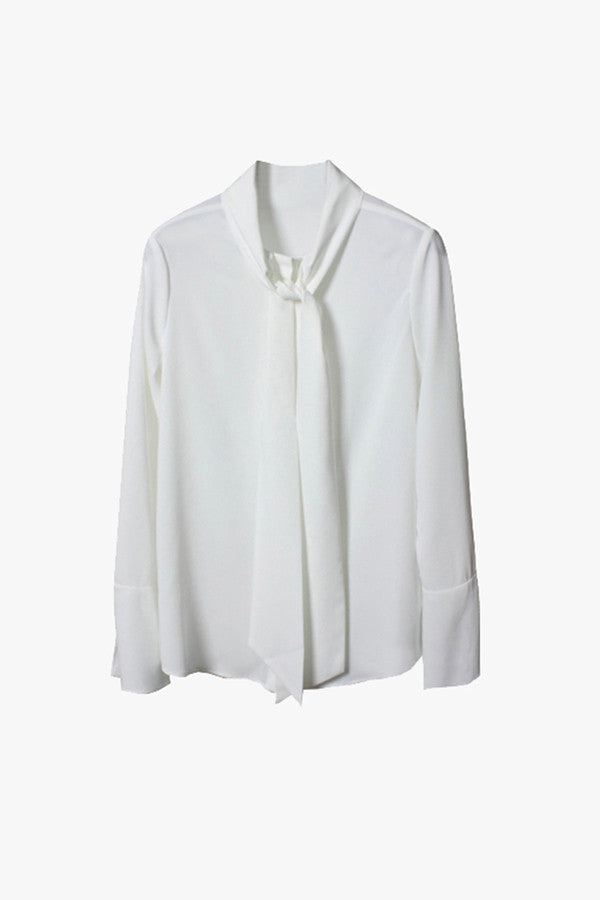 Bow Tie Collar Blouse