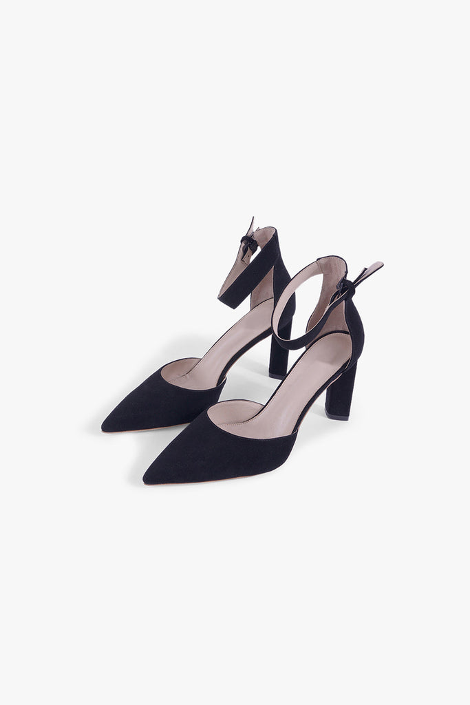 Suede Pointed Toe High Heels