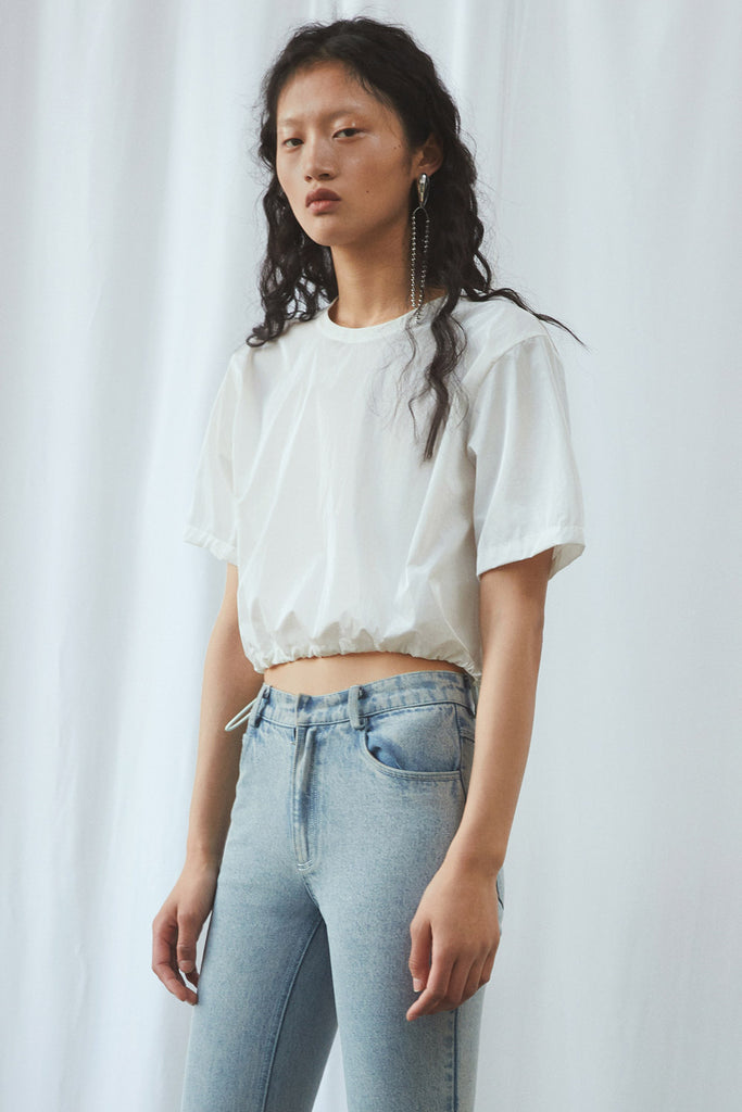 Short Sleeve Sporty Crop Top