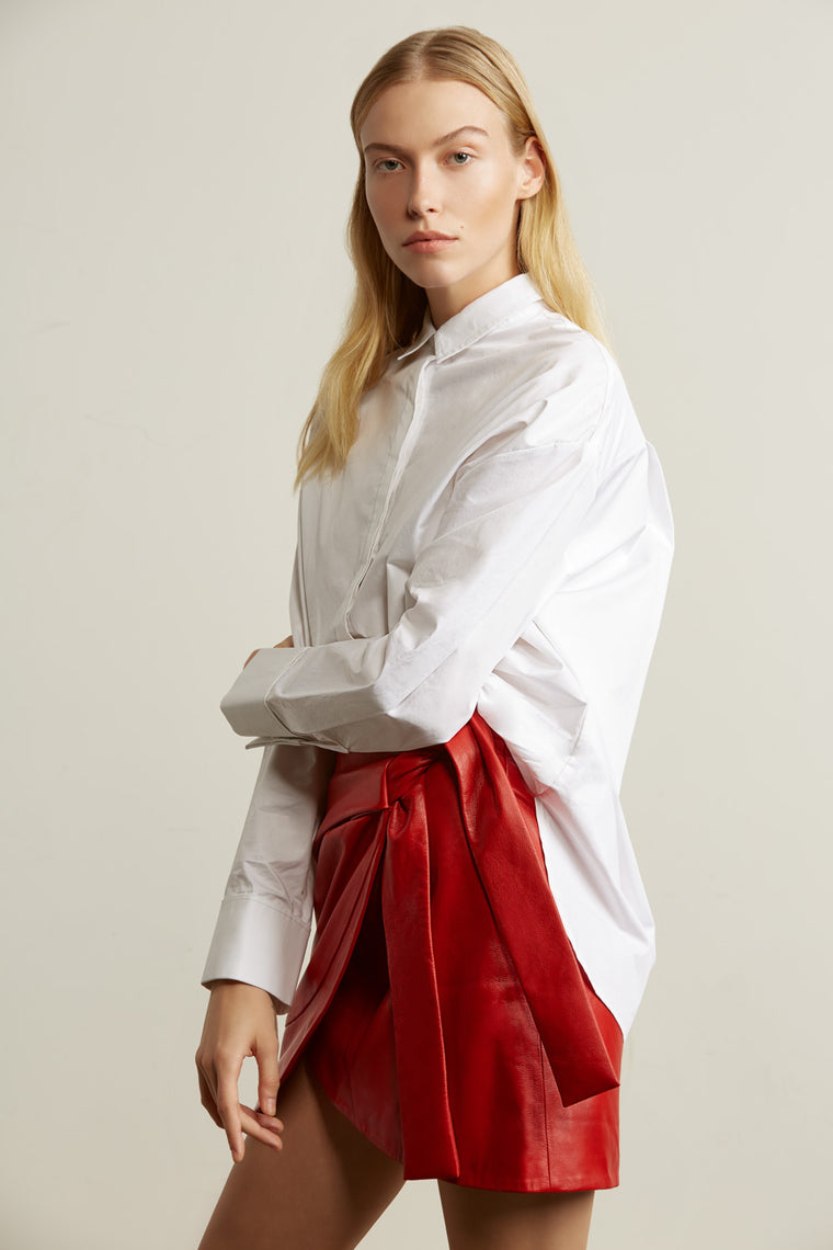 Oversized High Low Collar Blouse