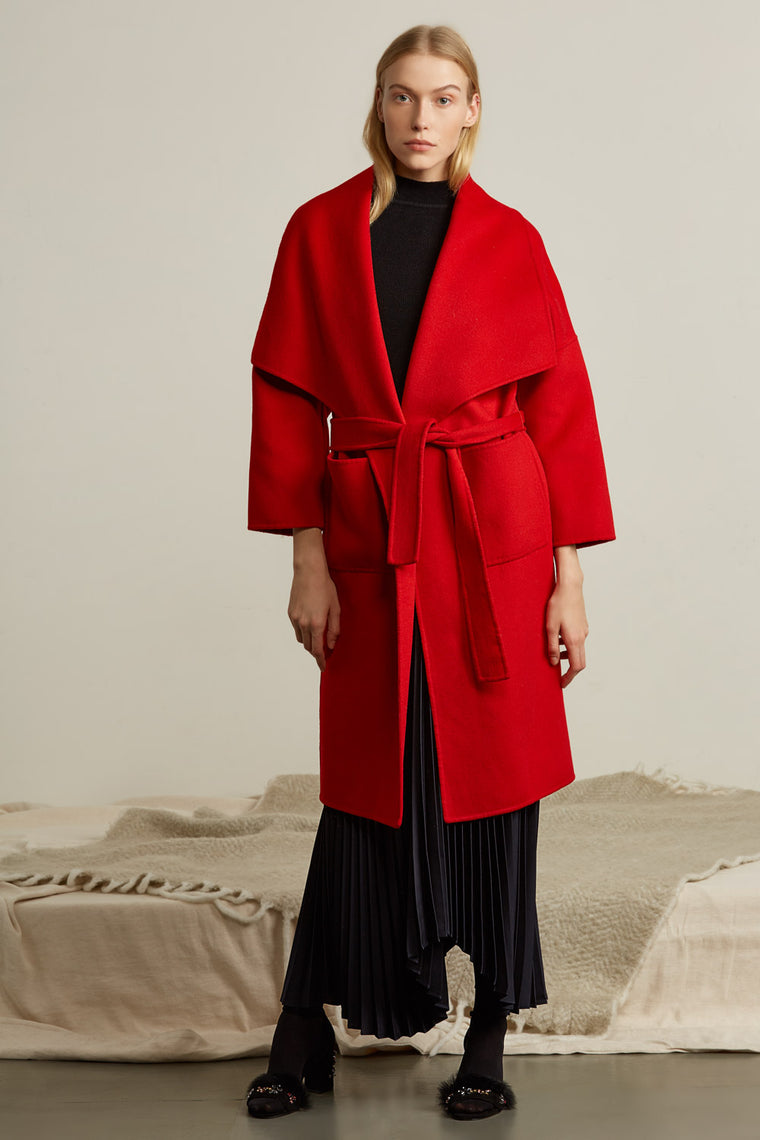 Oversized Shawl Collar Wool Coat