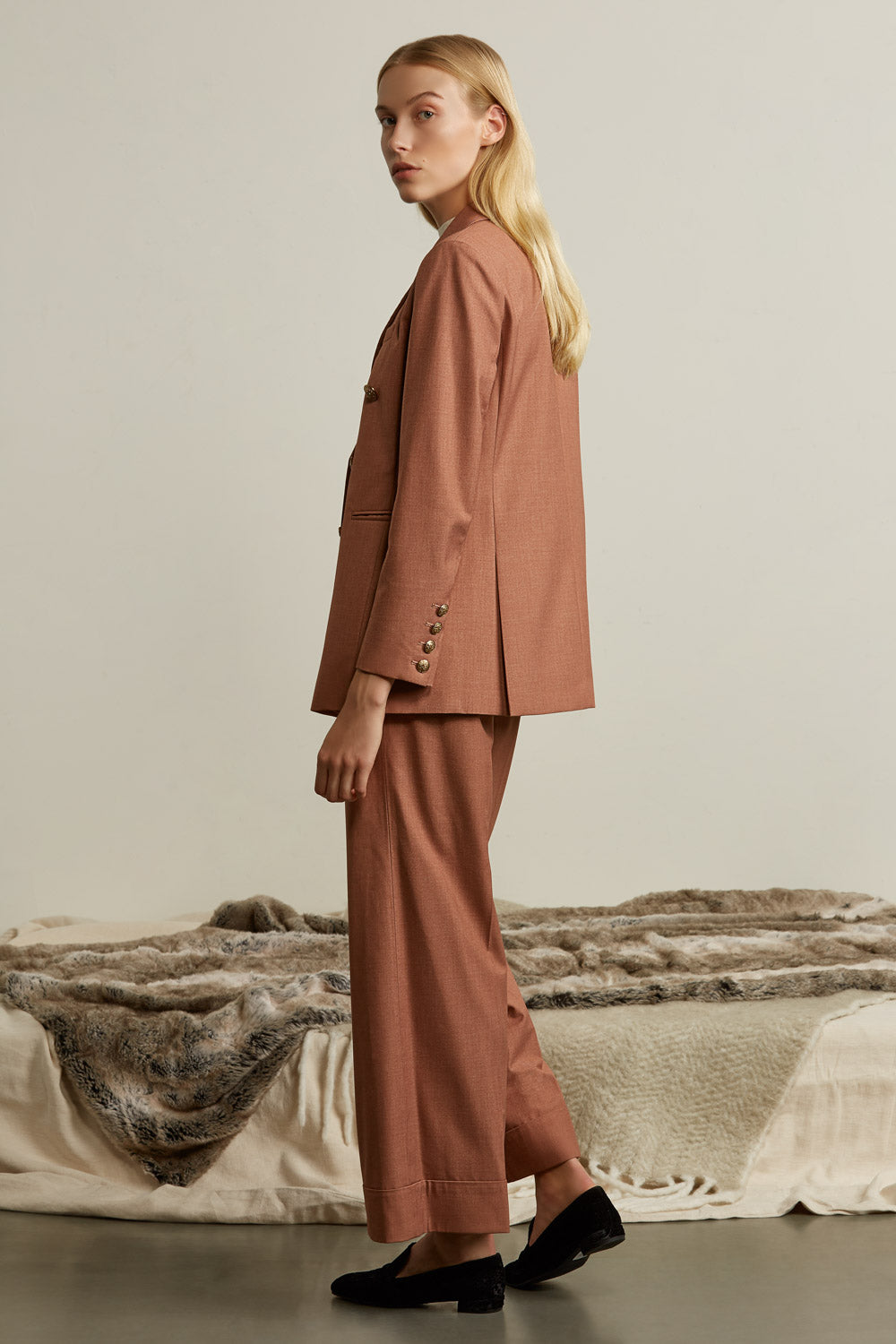 Tailored Wide Leg Pants