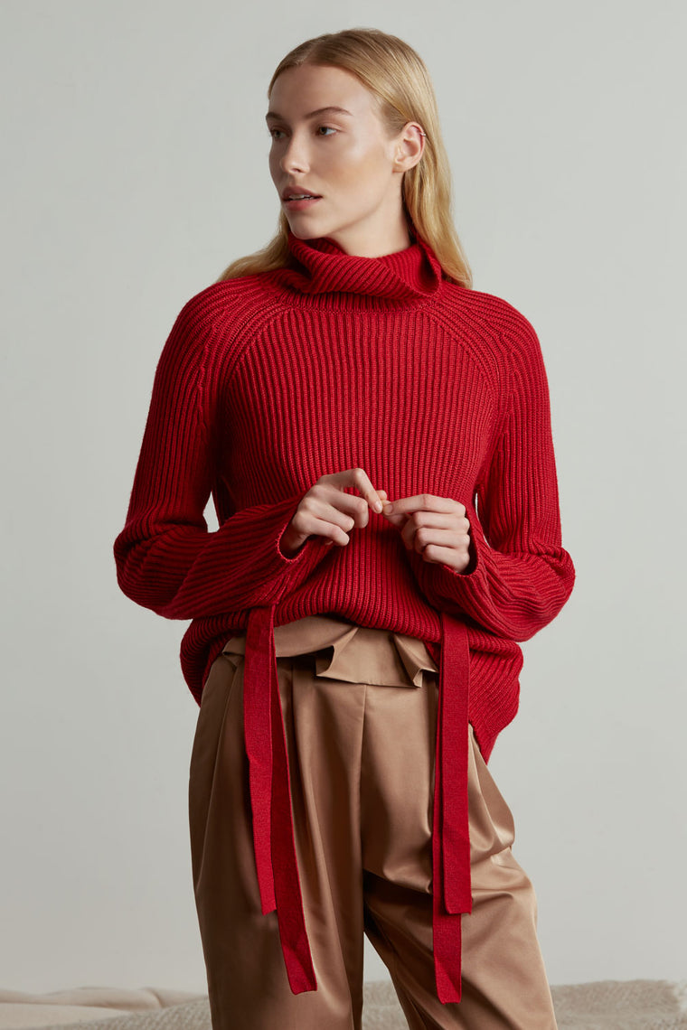 Oversized Wool Turtleneck Sweater