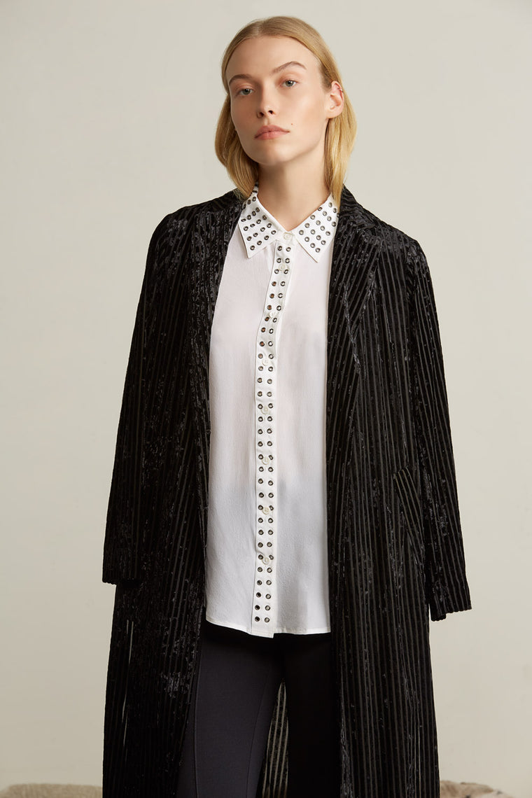 Lightweight Velvet Ribbed Jacket