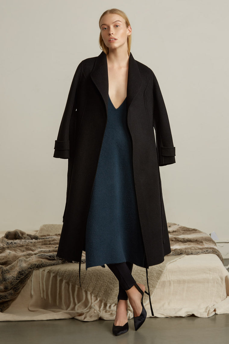 Heavy Collar Wool Coat