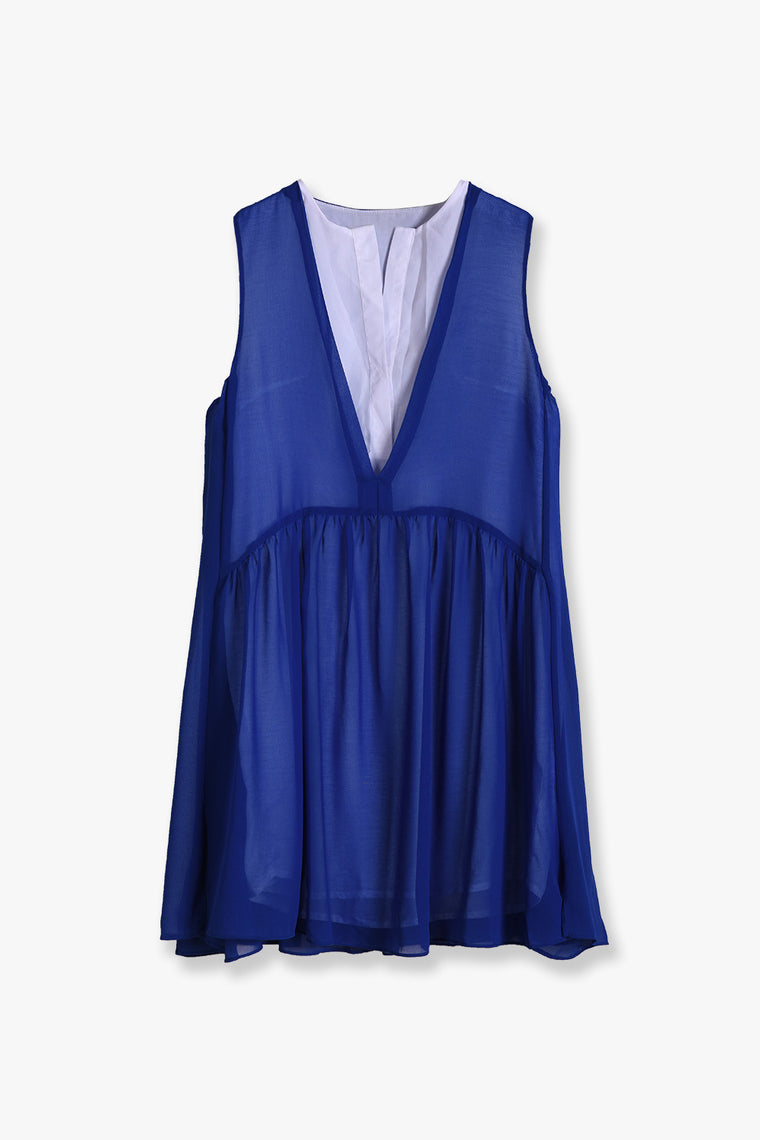 Layered Chiffon Mini Dress