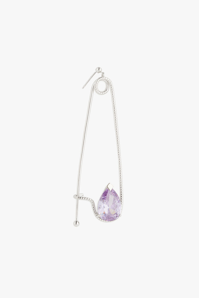 Pin Drop Amethyst Crystal Earrings