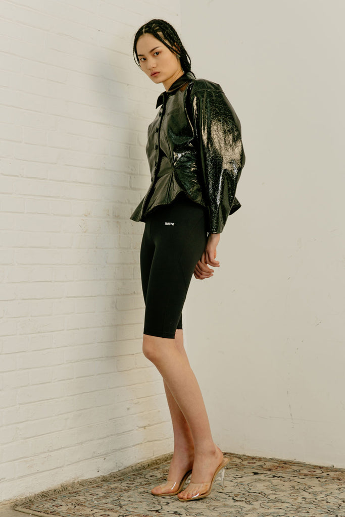 Patent Faux Leather Jacket