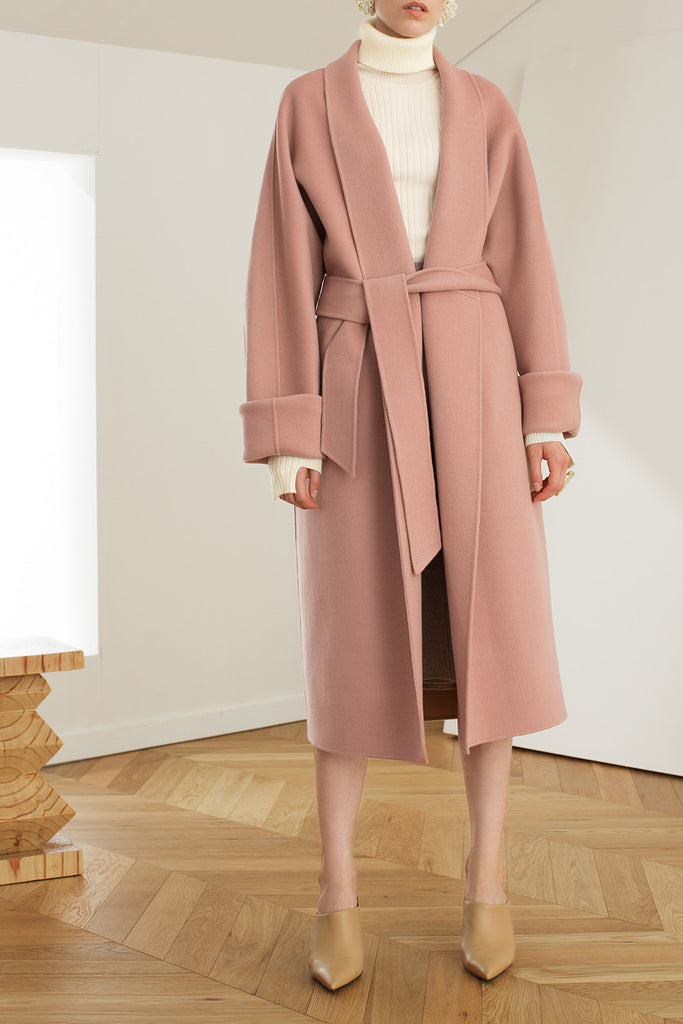 Wide Sleeve Wrap Coat