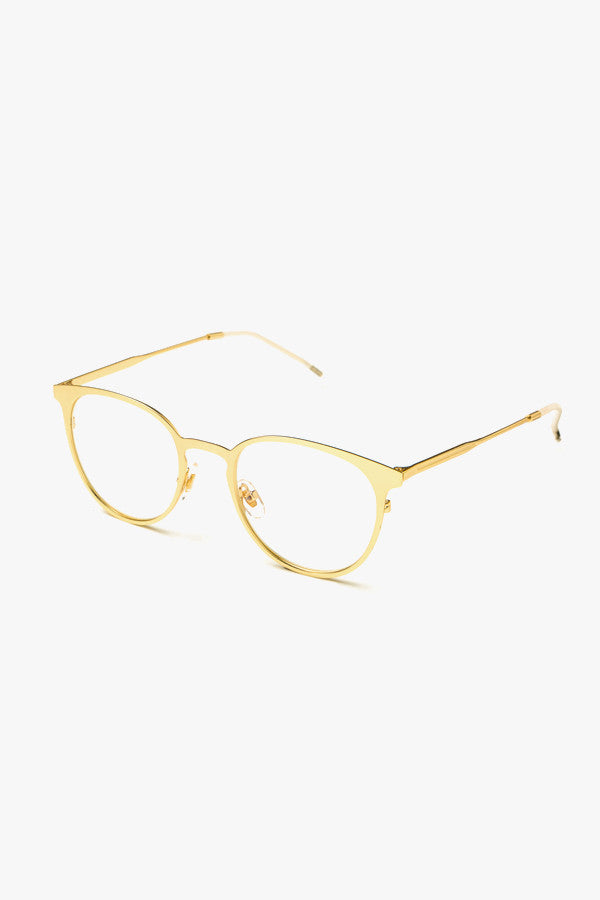 Mini Metal Frame Clear Glasses