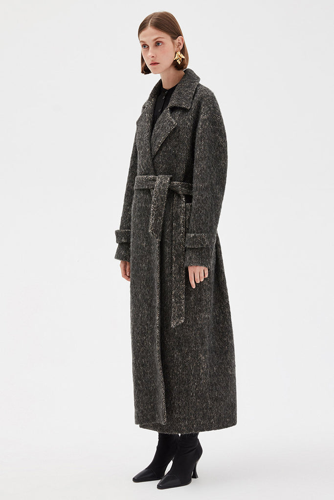 Long Wool Wrap Coat