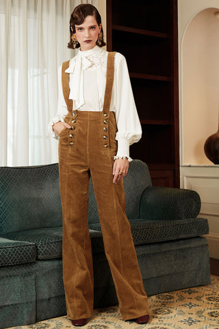 Cotton Corduroy Flare Overall