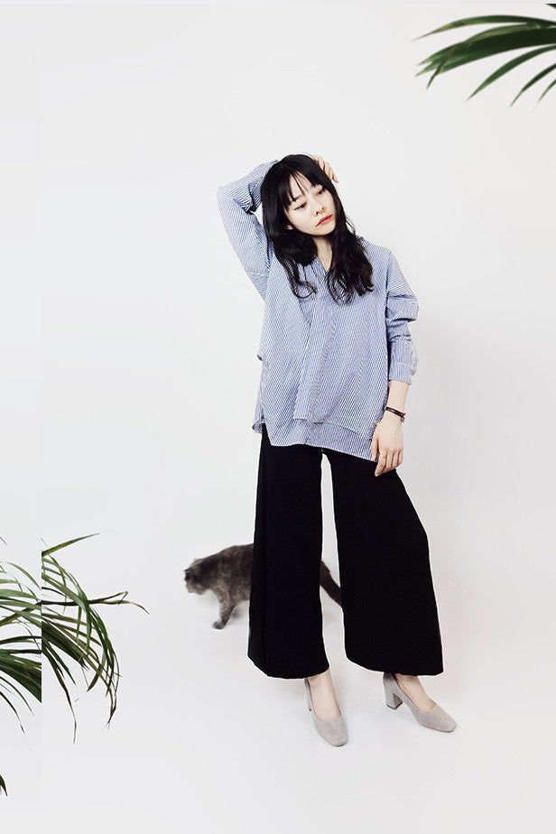 Wide-Leg Knit Crop Pants