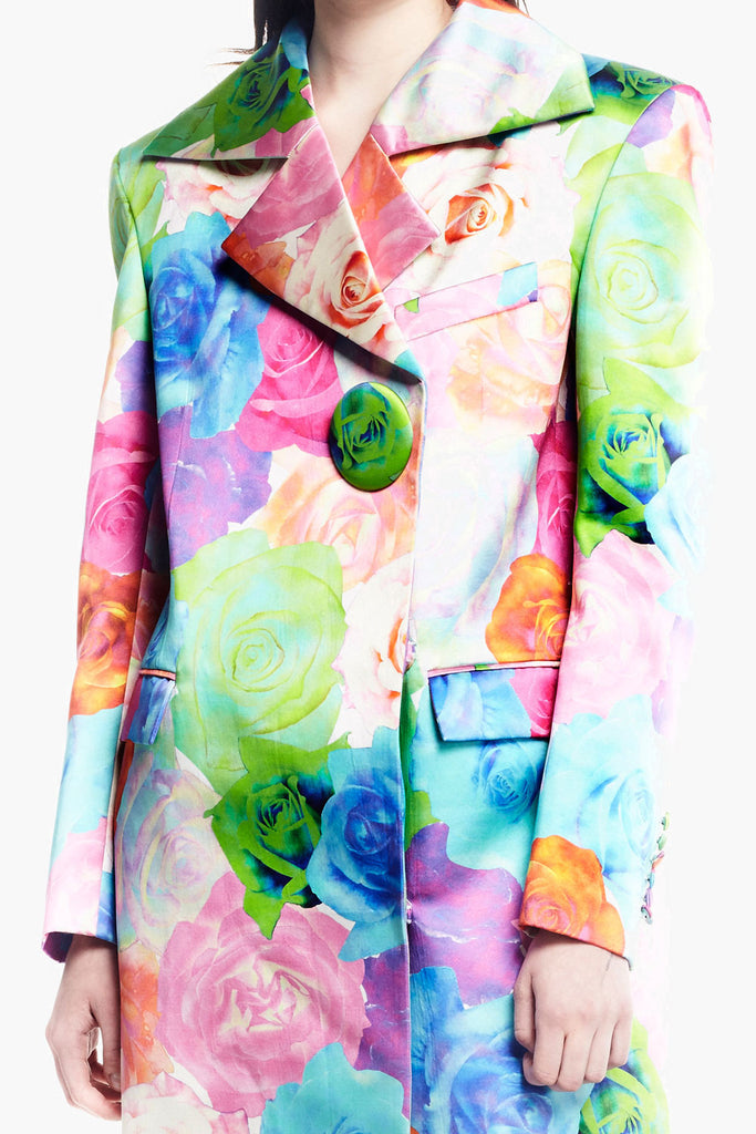 Rose Print Long Jacket