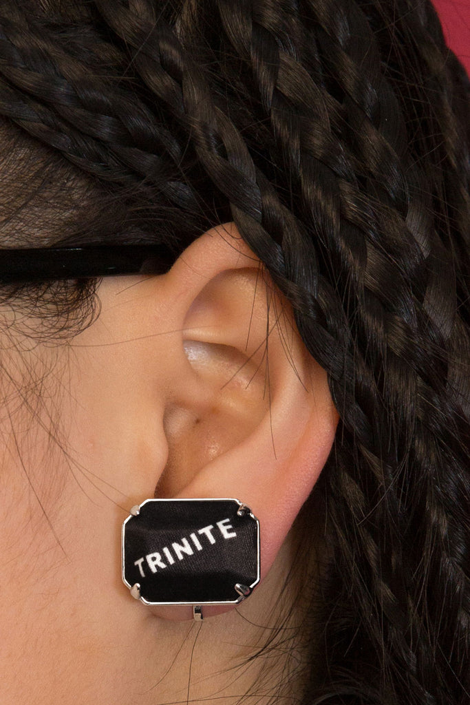 Trinite Logo Clip Earrings
