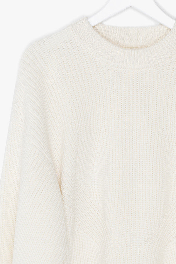 Crop Soft Nylon Wool Blend Sweater