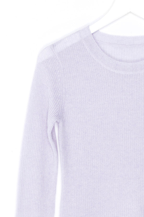 Violet Cashmere Sweater Top