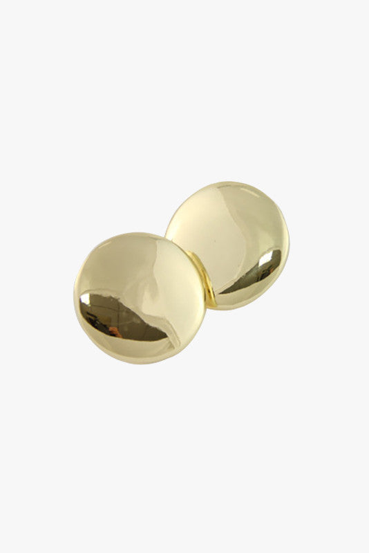 Oversized Round Stud Earrings