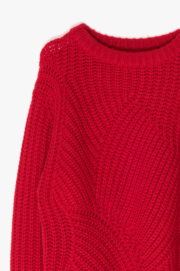 Oversized Red Sweater