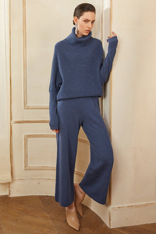 Wool Cashmere Blend Pants