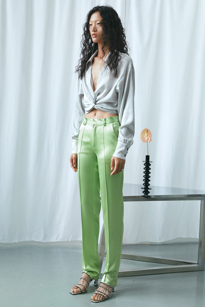 Straight Leg Satin Pants