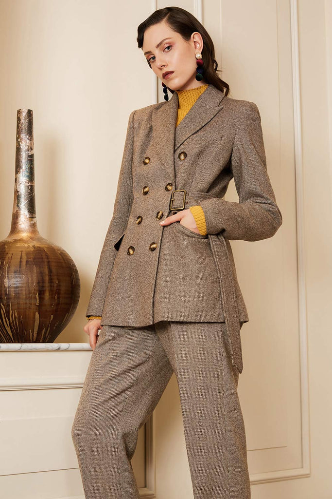 Tailored Tweed Pants