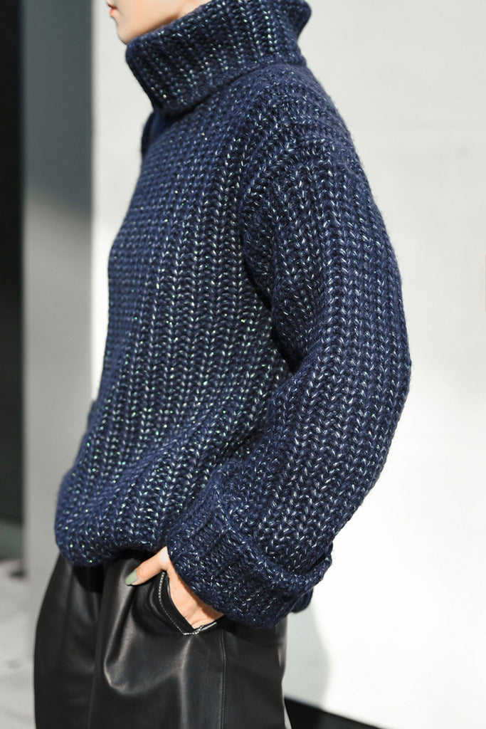 Thick Knit Wool Blend Sweater