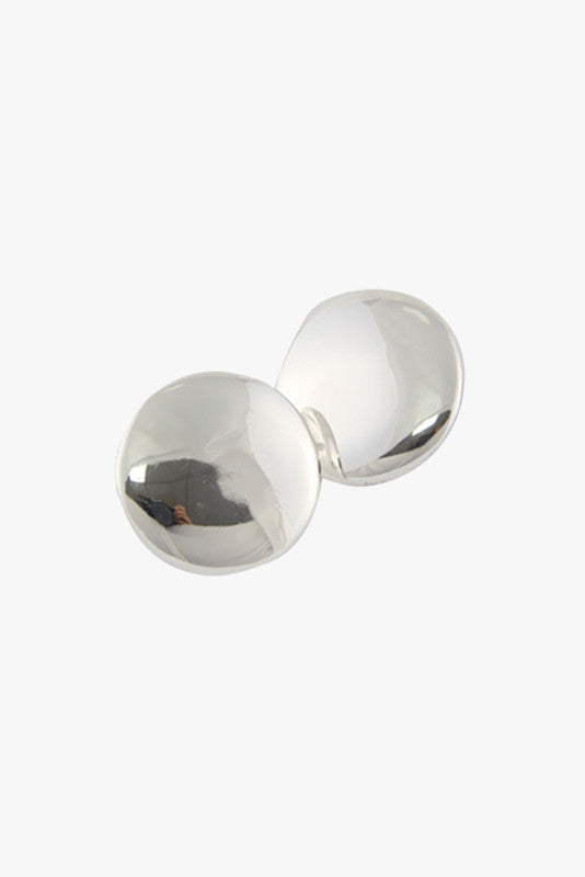 Oversized Round Silver or Gold Stud Earrings