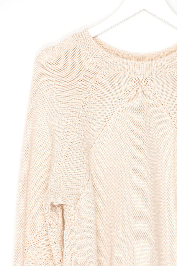 Crop High Low Sweater