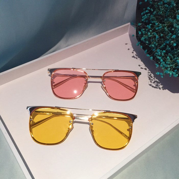 Metal Frame Color Sunglasses