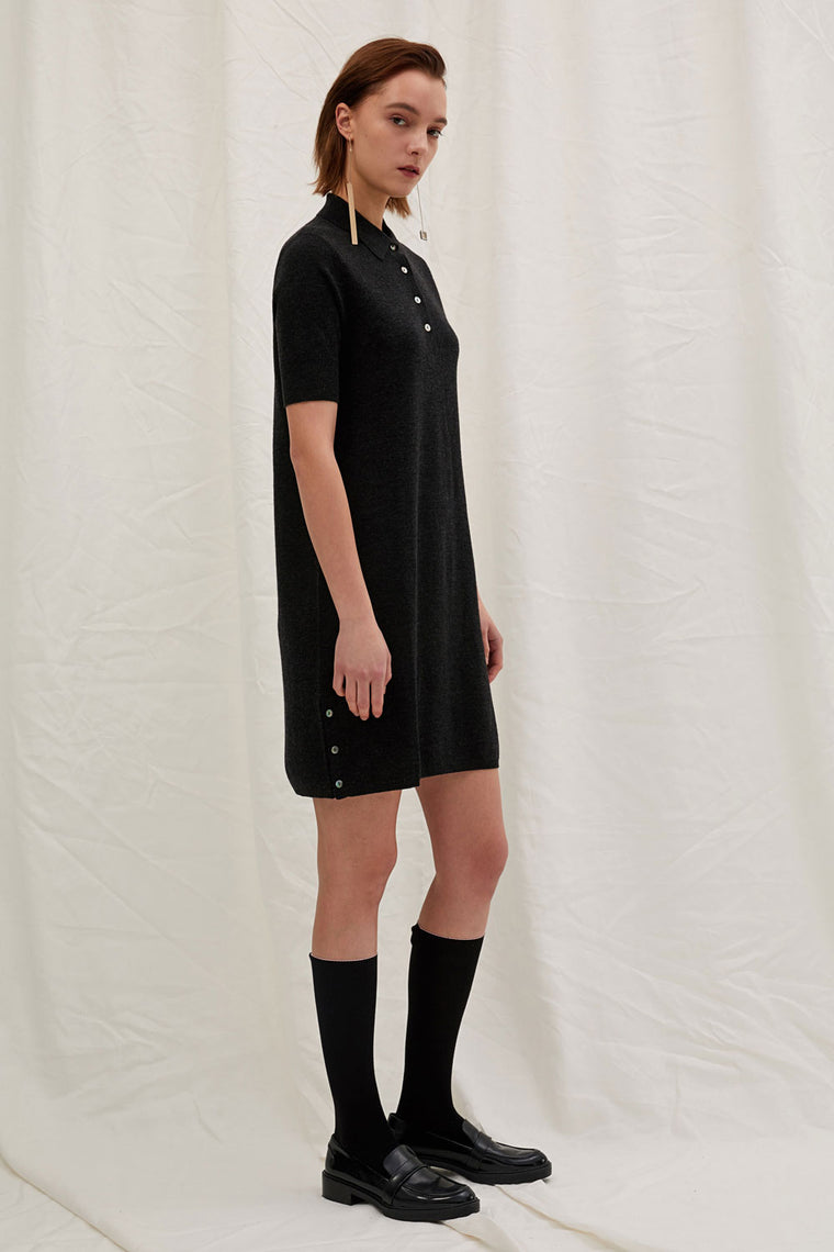 Wool Cashmere Polo Dress