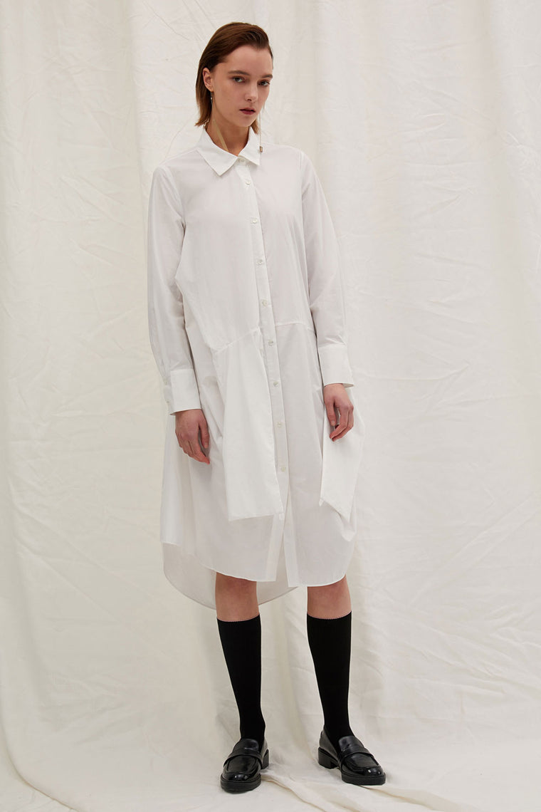 Asymmetric Shirt Dress