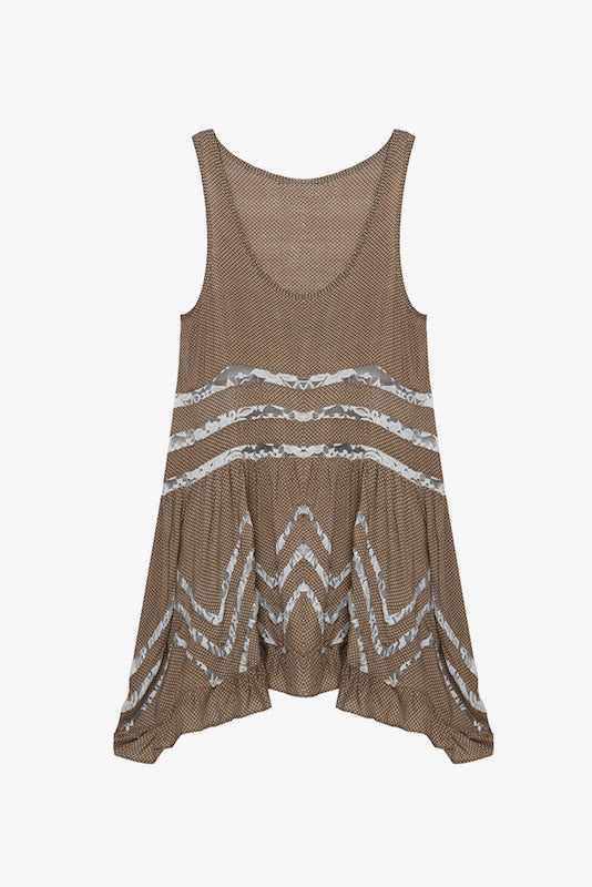 Sleeveless Tunic Mini Dress